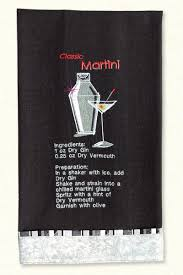 Cocktail Recipe Towels Embroidery Designs by Lunch Box Quilts on a