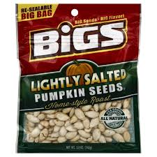 Eden Foods Spicy Pumpkin Seeds by Bigs Lightly Salted Pumpkin Seeds Shop Dried Fruits And Nuts At Heb