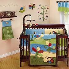 amazon com critter babies 7 piece baby crib bedding set by nojo