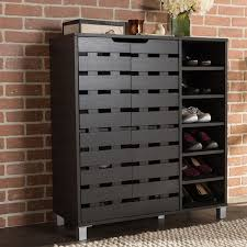 Simms White Modern Shoe Cabinet by Baxton Studio Shirley Contemporary Wood 2 Door Shoe Cabinet With