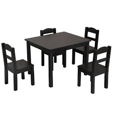 Child 5 Piece Dining Table Set Chair Wood Kitchen Breakfast ...