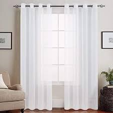 topick weiß lange gardinen vorhang für wohnzimmer