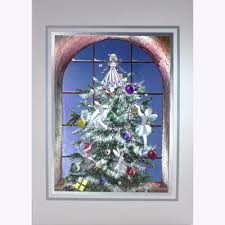 Stunning Art Foil 3D Xmas New Years Cards Fairies Decorating Christmas Tree