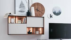 interliving esszimmer serie 5602 hängeschrank mit beleuchtung colorado nussbaum lichtgrauer lack zwei türen