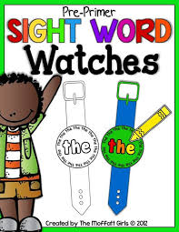 These Are Blank Sight Or Vocabulary Word Watches Kids Can Tape Glue Them On Each Week To Practice The Special