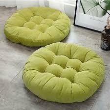dekokissen möbel wohnen 1x dicker weich tatami rund stuhl
