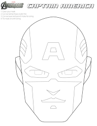 Captain America Mask Coloring Pages