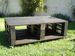 Handcrafted Pallet Black Stained Coffee Table
