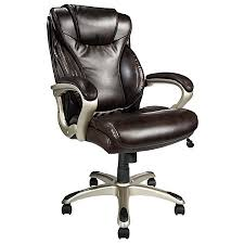 realspace ec620 executive high back chair brownsilver by office