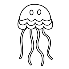 jellyfish clipart black and white 911