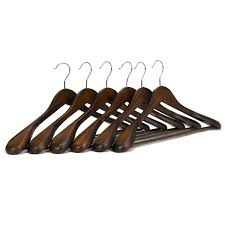 Amazoncom JS HANGER Solid Wooden ExtraWide Shoulder SuitCoat