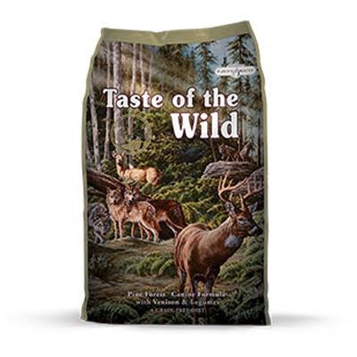 Taste of the Wild Dog Food - Pine Forest Canine Formula with Venison and Legunies