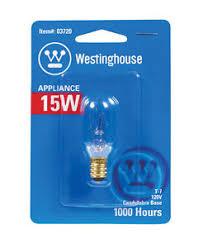 westinghouse appliance light bulb 15 watts 108 lumens 03720 ebay