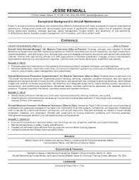 Maintenance Resume Objective Planner Examples