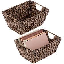 mdesign 2er set korb geflochten praktischer flechtkorb mit griffen für schlaf wohn badezimmer oder flur aufbewahrungskorb für haushaltsartikel