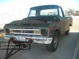 100 Unibody Truck 1962 Ford F100 PROJECT