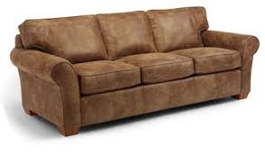 flexsteel vail nuvo leather sofa and chair not pictured living