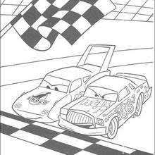 Cars Racing Between Chick Hicks And The King