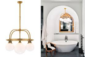 Chandelier Over Bathroom Vanity by Home Decor Ideas Bathroom Lighting Photos Architectural Digest