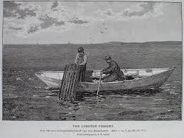 Decorative Lobster Traps Large by Fitz Henry Lane Becalmed Off Halfway Rock 1860 Inv 344