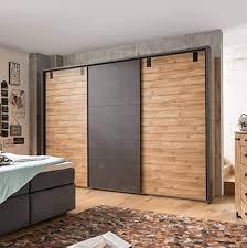 lifestyle4living kleiderschrank in plankeneiche dekor mit
