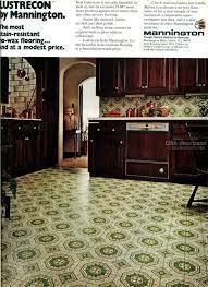 Mannington Vinyl Linoleum Flooring 1975