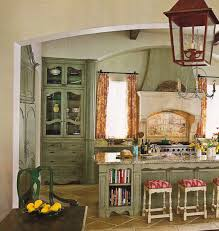 Sensational Vintage Kitchen Design Ideas With Rustic Hanging Lamps Over Distressed Cabinets Set In Country Interior Furniture Designs