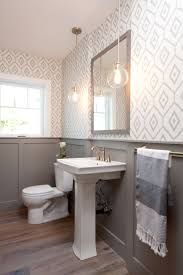 Paint Color For Bathroom With White Tile by 30 Gorgeous Wallpapered Bathrooms Patterns Powder Room And Bath