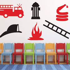 100 Fire Truck Wall Decals Kids Decal Man Decal DB205 Designedbeginnings