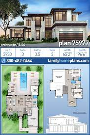 104 Contemporary House Design Plans Modern Style Plan 75977 With 3 Bed 4 Bath 3 Car Garage Modern Floor Modern Style Family