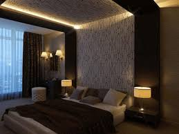 false ceiling bedroom stainless steel accessories drawer dark wood