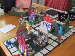 I Recently Posted This Picture Of A Board Game That Invented On My Facebook Page It Was Made Mostly From Upcycled Materials Some Old Linoleum Squares