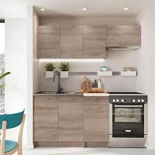 mirjan24 küche mela 180 küchenzeile 5 schrank module kombinierbar küche set küchenmöbel trüffel beige
