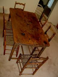 PRIMITIVE KITCHEN TABLE Canadian Pine Wood Furniture