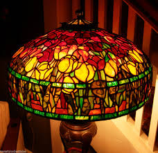Concord Lamp And Shade by Tiffany Reproduction Stained Glass Lamp Shade 16