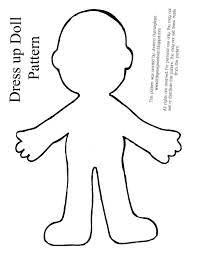 Doll Paper Dress Template
