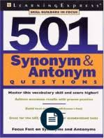 Shed Any Light Synonym by 500 Word List Of Synonyms And Antonyms