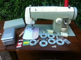 sears kenmore 158 leather embroidery cams sewing machine antique
