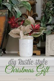 DIY Rustic Christmas Gift Idea MakeItFunCrafts Via PinkWhen