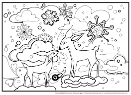 Free Winter Coloring Pages To Print Archives Inside Adults