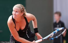 Risky Move The French Tennis Star Appeared To Be At Risk Of A Wardrobe Malfunction