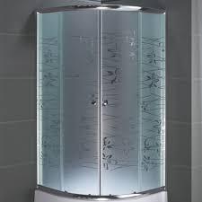 duschtür glasoptionen gebogene glasduschwand