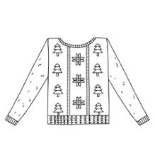Christmas graphic sweater isolated on white vector image