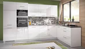 l form küchenzeile essen trend 330x163cm einbauküche perlweiß front weiß acryl hochglanz