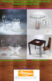 Glamorize Your Home With An Acrylic Pedestal Dining Table ... Elegant Acrylic Tables Designer Table For Home Modern Farmhouse Rue Mag Ding Room Clear Glamorize Your With An Pedestal Ding My New Old Chair Artist Fixes Broken Wood Fniture With Modway Casper Stacking Kitchen And Room Arm In Fully Assembled Martinus High Gloss White Set Fniture Lucite Table 8 Pyramid Side List Of Types Wikipedia Design Sets And Chairs Ikea Design Transparent Chair Acrylic Polycarbonate Pc Imax Worldwide Seating Arturo