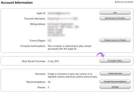 View ipad iphone Apps purchase history details in iTunes