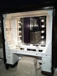 desk 54 makeup table with lighted mirror and drawers appealing