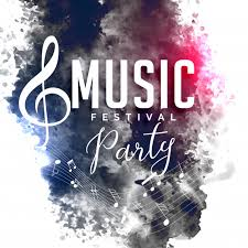 Grunge Style Music Party Festival Flyer Poster Design Free Vector