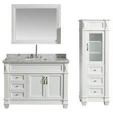 Design Element 48 In. W X 22 In. D Bath Vanity In White With Marble ... Design Element Milan 24 Bathroom Vanity Espresso Free Shipping 78 Ldon Double Sink White Dec088 36 Single Set In Galatian 88 With Porcelain Stanton 72 W Vessel Inch Drawers On The Open Bottom Dec074sw Citrus 48inch Solid Wood W X 22 D 61 Gray Marble Hudson 34 H