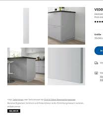 ikea neu veddinge grau blende metod küche tür deckseite 240 39